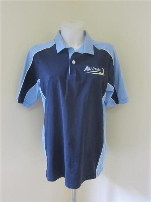 Agrimac Navy and Blue Rugby Top