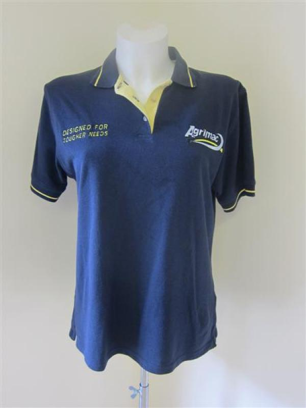 Agrimac Navy & Yellow Polo Shirt